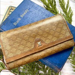 Vintage Celine Paris leather wallet